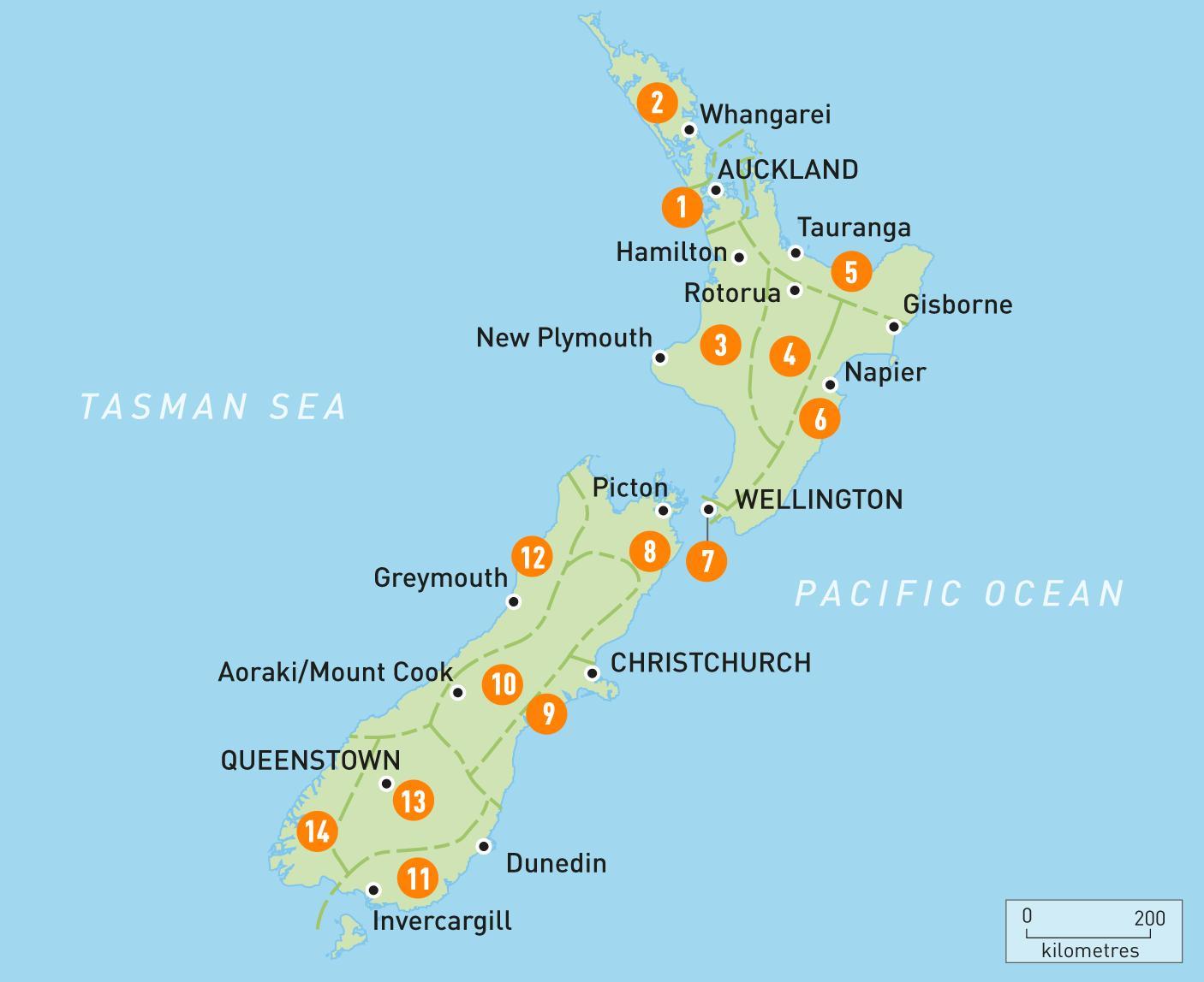 Uuden Seelannin Alueen Kartta Kartta Uuden Seelannin Alue