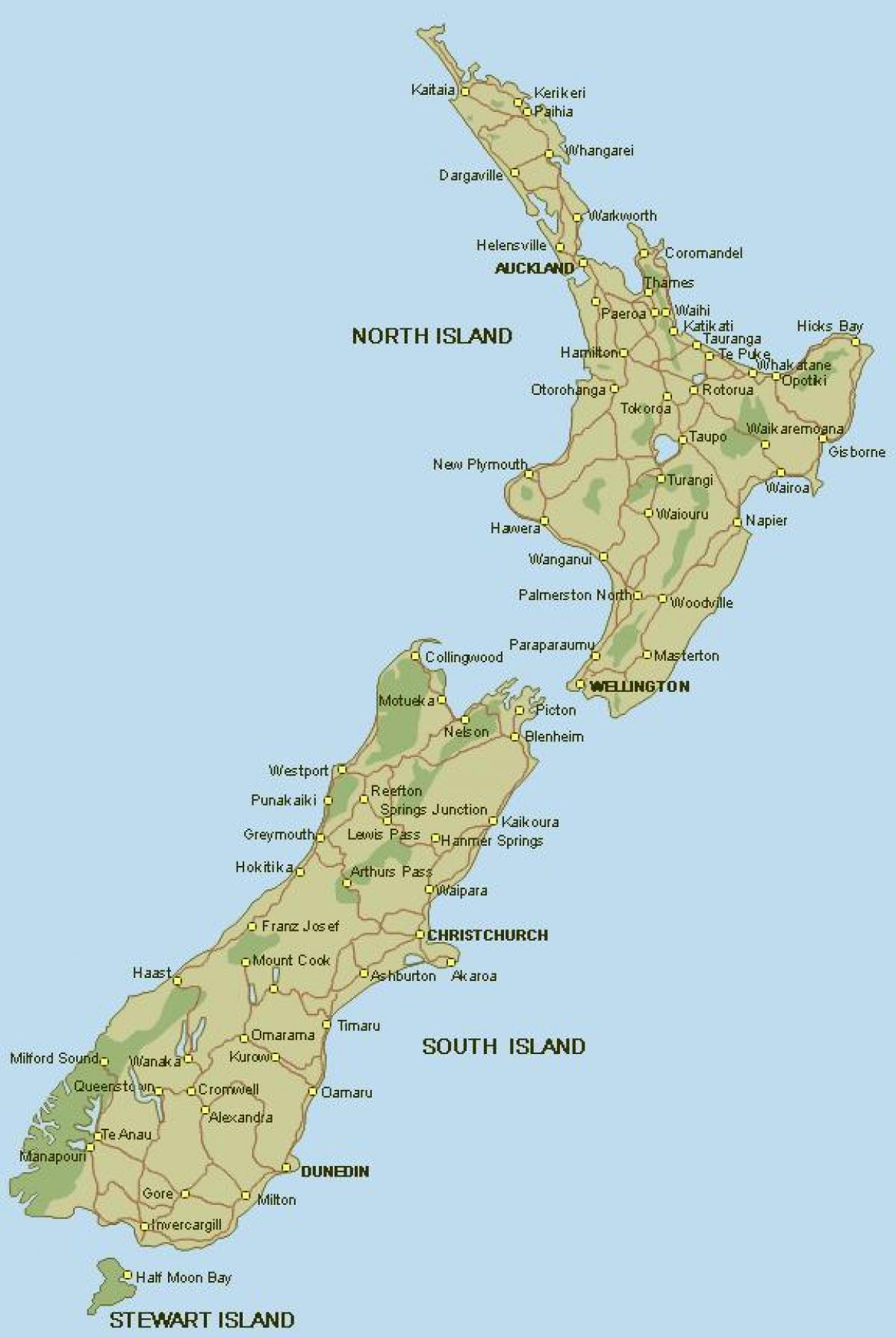 Kartta Uuden Seelannin Ja Uuden Seelannin Koko Kartta Australia